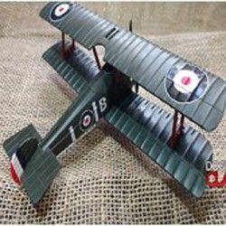 KIT Avião britânico utilizado na Primeira Guerra, de 1916 E uma super Dog Tag modelo Aviador Gravada com o Seu nome