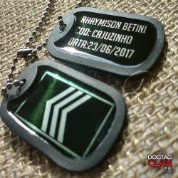 Dog tag 3 sargento EB Exército