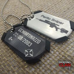Kit com duas dogtag snipers/classes modelo phantom