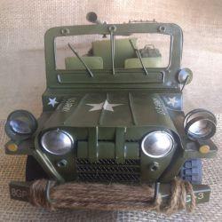 Replica em ferro fundido Jeep Willys U.s Army 1942