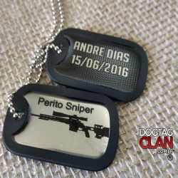 Kit Dogtag simples exercito/classes Gravado seus dados