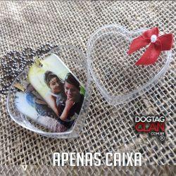 Caixas de Presente Feita Sob Medida coração acrilico com gliter
