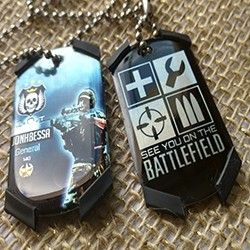 Kit Dogtag Phantom classes soldado Gravado seus dados