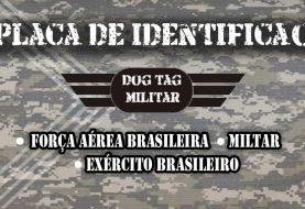 PLACA DE IDENTIFICAÇÃO MILITAR