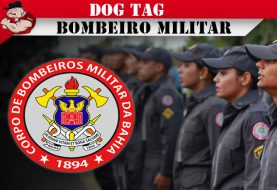 DOG TAGS CORPO DE BOMBEIRO MILITAR DA BAHIA