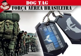 DOG TAG PLAQUETA IDENTIF SOLDADO FORÇA AÉREA FAB AÇO INOX