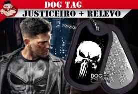 DOG TAG JUSTICEIRO MARVEL COM RELEVO