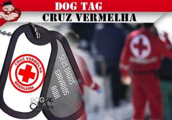 DOG TAG CRUZ VERMELHA