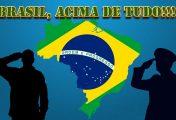 DOG TAG BRASIL ACIMA DE TUDO DEUS ACIMA DE TODOS