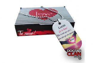 Caixa para Dog Tag I Love You