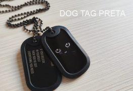 Dog tag preta