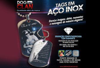 Dog tag gravada em ponta de diamante